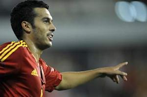 Belarus 0-4 Spain: Pedro fires hat trick as world champions cruise
