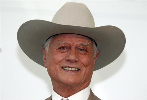 Actor Hagman poses during the 50th Monte Carlo television festival in Monaco