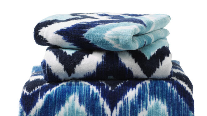 This undated publicity photo provided by HomeGoods shows towels in various shades of blue as a simple and inexpensive way to introduce blue into spring décor (www.homegoods.com). (AP Photo/HomeGoods)