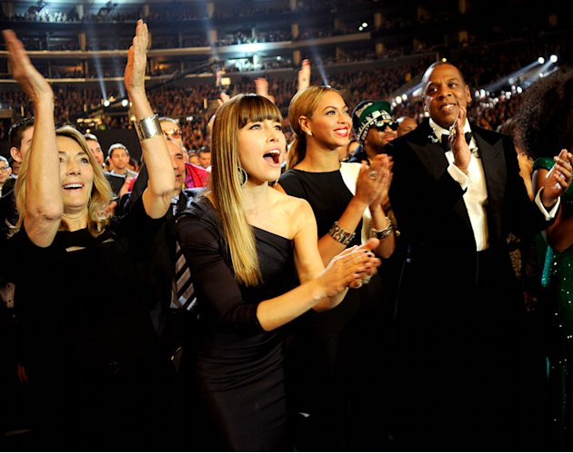 Jessica Biel, Beyonce Knowles, Jay-Z