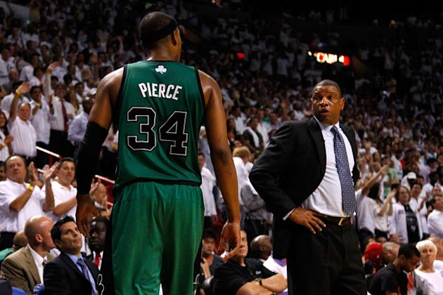 Doc Rivers Of The Boston Celtics Looks Getty Images