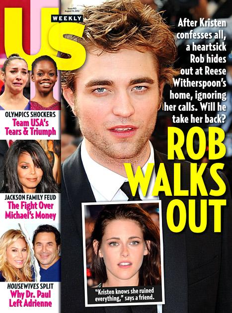 Robert Pattinson Is Hiding Out at Reese Witherspoon's Ranch After Kristen Stewart's Affair