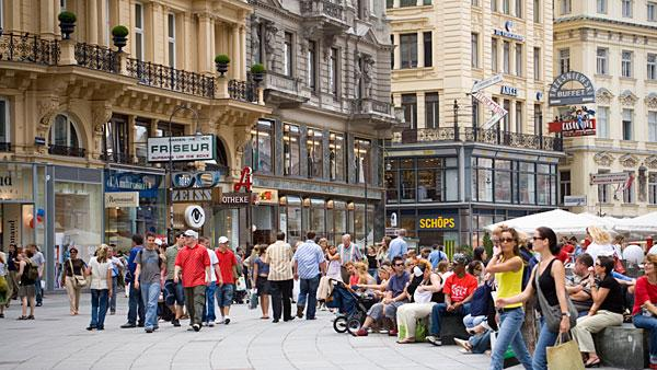 5. (Tied) Austria Highest income tax rate: 50%  Average 2010 income: $50,700   Austria, which is often ranked as one of the world's best places to live, levies a high income tax and social security burden on households.   Its highest marginal tax rate comes into effect at $80,000 of taxable income. The country's social security rate ranges from 17 percent to 18 percent. Special payments for workers like a holiday bonus are also taxed at 6 percent, up to a limit of one-sixth of the annual income. Annual property tax is levied by municipalities at a rate of 0.5 percent to 1 percent of the property's value. Other notable taxes include a capital gains tax of 25 percent.   In April, the Austrian government nailed down a crucial deal with Switzerland to tax money stashed away by its citizens in secret Swiss bank accounts. The existing funds will be taxed between 15 percent to 38 percent based on the size of the deposits and is expected to bring in $1.3 billion in revenue starting in 2013. The government estimates about $12 billion to $20 billion in undeclared funds are parked in Swiss accounts.   Pictured: Street in Vienna  Photo: Ingolf Pompe | LOOK-foto | Getty Images