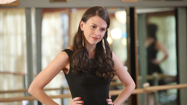 "This image released by ABC Family shows actress Sutton Foster portraying Michelle Simms in a scene from ""Bunheads, "" on ABC Family. Foster, a three-time Tony winner, plays a Las Vegas showgirl who marries, moves to a small town and runs a dance school with her mother-in-law. (AP Photo/ABC Family, Adam Taylor)"