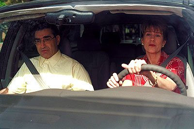 Eugene Levy and Molly Cheek in Universal's American Pie 2