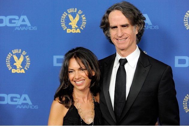 Susanna Hoffs, left, and Jay Roach arrive at the 65th Annual Directors Guild of America Awards at the Ray Dolby Ballroom on Saturday, Feb. 2, 2013, in Los Angeles. (Photo by Chris Pizzello/Invision/AP