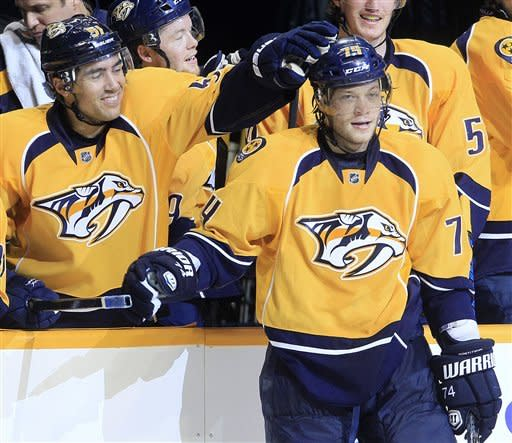 Predators beat Flames 5-3