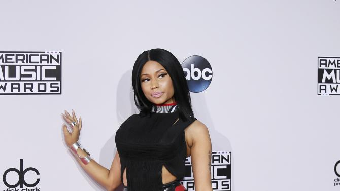 Nicki Minaj arrives at the 42nd American Music Awards in Los Angeles