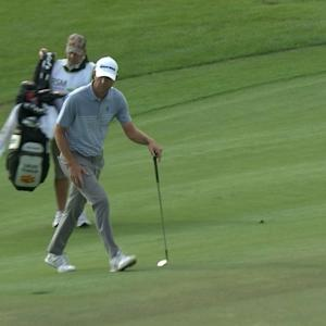 Lucas Glover's textbook chip-in for birdie at The RSM Classic