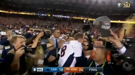 Why Was Papa John the First to Kiss Peyton Manning After His Super Bowl Victory?