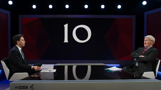 David Cameron & Ed Miliband Take Part In TV Q&A