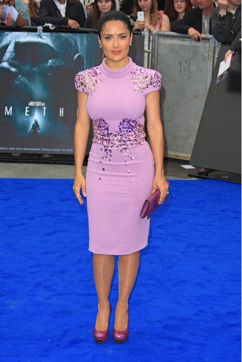 Salma Hayek Prometheus World premiere held at the Empire - Arrivals London, England - 31.05.12  Mandatory Credit: Lia Toby/WENN.com