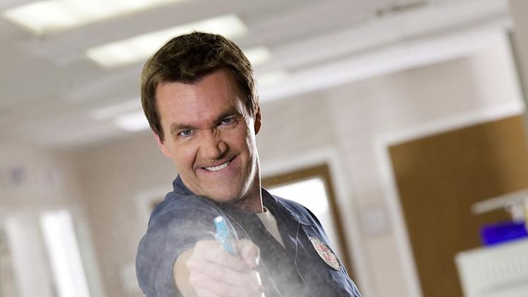 Neil Flynn stars as The Janitor in Scrubs.