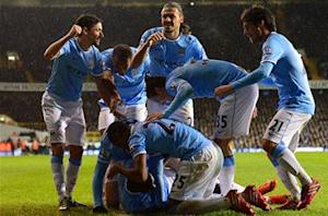 Tottenham 1-5 Manchester City: Pellegrini's men go top after eighth straight win