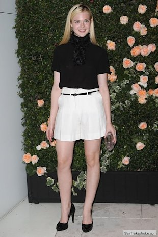 elle fanning at chanel dinner