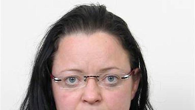 FILE - The undated file photo provided by German federal criminal investigation office BKA in December 2011, shows terror suspect Beate Zschaepe after her arrest. Zschaepe, 38, the sole survivor of a neo-Nazi group _ the self-styled National Socialist Underground _ blamed for ten killings, goes on trial Monday, May 6, 2013 in Munich, along with four men alleged to have helped the killers in various ways. She is charged with complicity in the murder of eight Turks, a Greek and a policewoman. She is also accused of involvement in at least two bombings and 15 bank robberies carried out by her accomplices Uwe Mundlos and Uwe Boenhardt, who died in an apparent murder-suicide two years ago. (AP Photo/BKA, File)