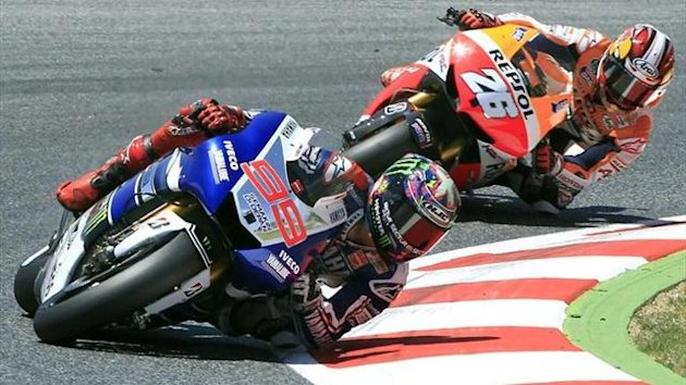 Jorge Lorenzo and Dani Pedrosa at Montmeló