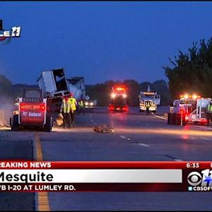Big Rig Crash Shuts Down Highway In Mesquite