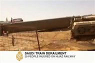 Dozens injured in Saudi train derailment