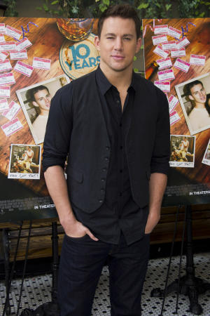 """FILE - In this Sept. 16, 2012 file photo, Channing Tatum attends a brunch event for the new film """"10 Years"""" in New York. Tatum and his wife Jenna Dewan-Tatum are expecting their first child in 2013, their reps confirm. (Photo by Charles Sykes/Invision/AP, File)"""