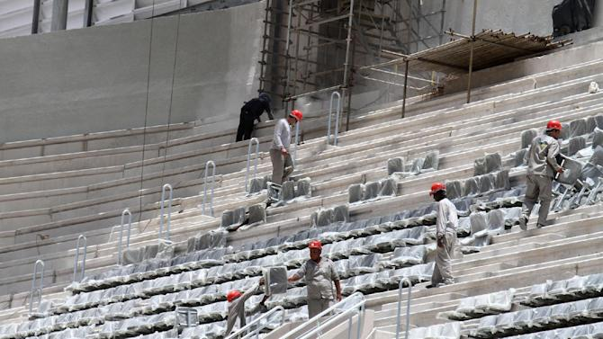 Cup organizers: Add workers at delayed stadium