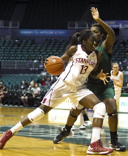 No. 4 Stanford easily defeats Hawaii 69-42