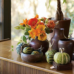 Celebrate with an unusual pumpkin arrangement