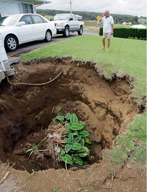 Hawaii sinkhole