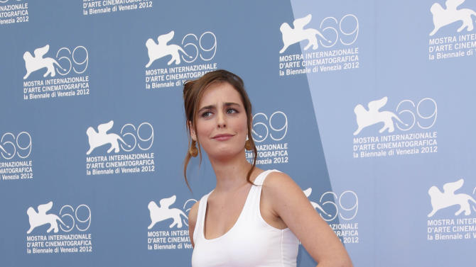 Actress Hadas Yaron poses for the photo call of the film 'Fill The Void' at the 69th edition of the Venice Film Festival in Venice, Italy, Sunday, Sept. 2, 2012. (AP Photo/Joel Ryan)