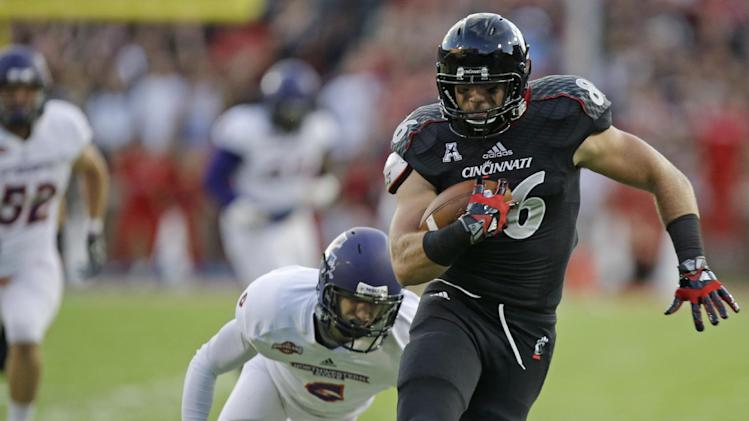 Kay throws 4 TDs, Cincy beats Northwestern St 66-9