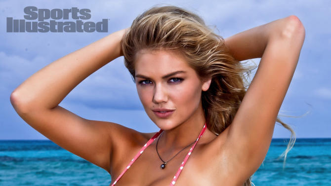 """In this image released by Sports Illustrated on Monday, Feb. 13, 2012, model Kate Upton  is shown in a photo from the """"Sports Illustrated 2012 Swimsuit Issue.""""  Upton also graces the cover of the double issue now on sale at newsstands, tablet, mobile and at SI.com/Swimsuit. (AP Photo/Walter Iooss Jr. for Sports Illustrated) NORTH AMERICA USE ONLY UNTIL MARCH 2, 2012. MANDATORY CREDIT: WALTER IOOSS JR/SPORTS ILLUSTRATED"""