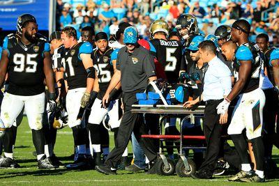 Allen Hurns stretchered off field, hospitalized; fantasy status up in the air