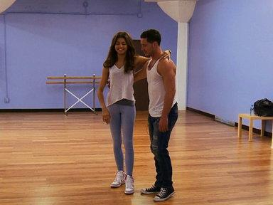 Zendaya and Val's First Rehearsal