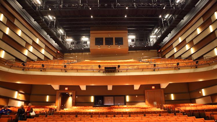 "This undated image provided by VisitNC.com shows Knight Theater in Charlotte, N.C., part of the Blumenthal Performing Arts Center, where scenes from ""The Hunger Games"" were shot showing interviews with characters playing the teenage ""tributes."" The movie was filmed entirely in North Carolina, which is gearing up for tourism from fans. (AP Photo/VisitNC.com, Bill Russ)"