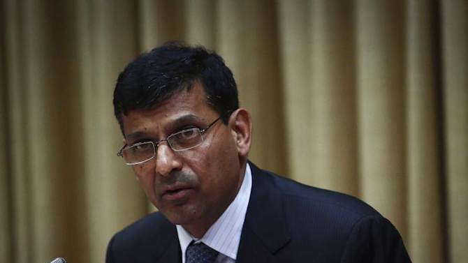 Rajan, newly appointed governor of RBI, addresses a news conference at the bank's headquarters in Mumbai