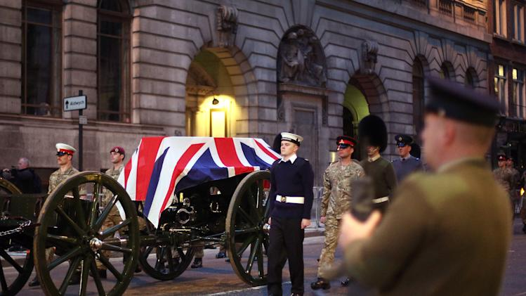 Preparations Ahead Of Funeral Of Former British Prime Minister Margaret Thatcher
