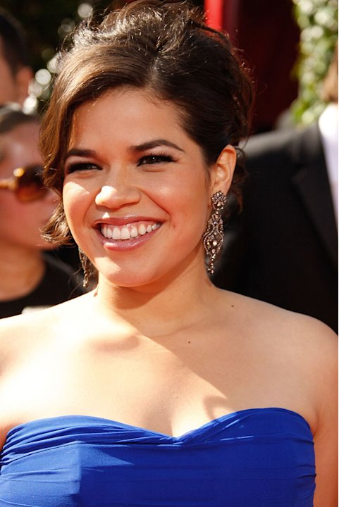 America Ferrera arrives at the 59th Annual Primetime Emmy Awards at the Shrine Auditorium on September 16, 2007 in Los Angeles, California.