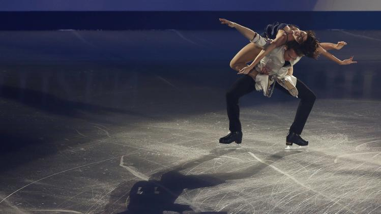 Nathalie Pechalat and Fabian Bourzat of France perform during the gala exhibition at the ISU Grand Prix of Figure Skating Final in Fukuoka, Japan