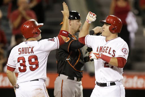Angels hit 2 HRs in Vargas' win over O's