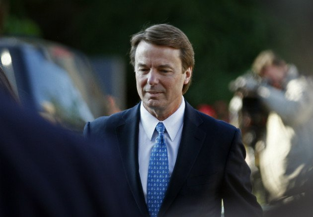 Edwards outside of federal court in Greensboro, N.C., April 23, 2012 ...