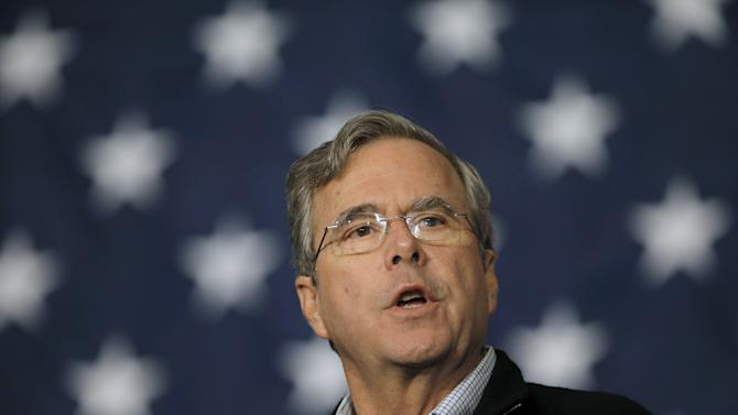 U.S. Republican presidential candidate Jeb Bush speaks during a campaign event at the Younts Performing Arts Center in Fountain Inn