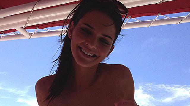 Kendall Jenner Flashes Her Butt Cheeks in Shortest Shorts Imaginable