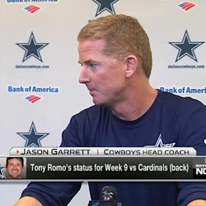 Dallas Cowboys head coach Jason Garrett optimistic quarterback Tony Romo will play