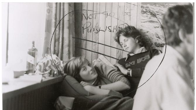 "This image provided by RR Auction shows a photograph marked ""not to be published"" of a teenage Diana Spencer before she became Princess of Wales, with a young friend seated beside her. RR Auction in Amherst, N.H., says the photo sold Thursday, Jan. 24, 2013 to a real estate investor from San Diego for $18,306, well above early estimates. Stamped February 1981 on the back, the photo was taken around the time Charles, the Prince of Wales, and Lady Diana Spencer ended months of speculation and announced they were to be married. (AP Photo/RR Auction)"