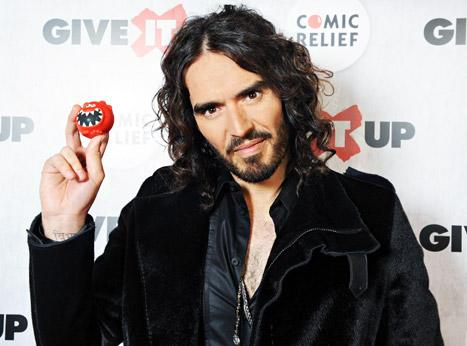 Russell Brand Hosts Give It Up for Comic Relief Charity Event