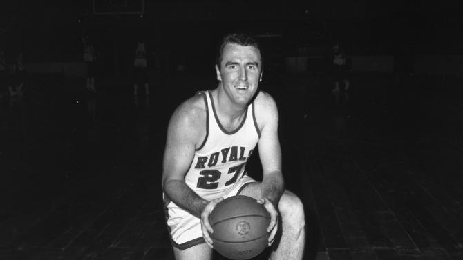 FILE - This is a 1965 file photo showing Cincinnati Royals basketball player Jack Twyman. Basketball Hall of Famer Jack Twyman has died at 78.  Twyman was one of the NBA's top scorers in the 1950s who became the guardian to a paralyzed teammate. Jay Twyman, of Rye, N.Y., said Thursday, May 31, 2012,  that his father died Wednesday at a Cincinnati hospice of complications from an aggressive form of blood cancer.  (AP Photo/File)
