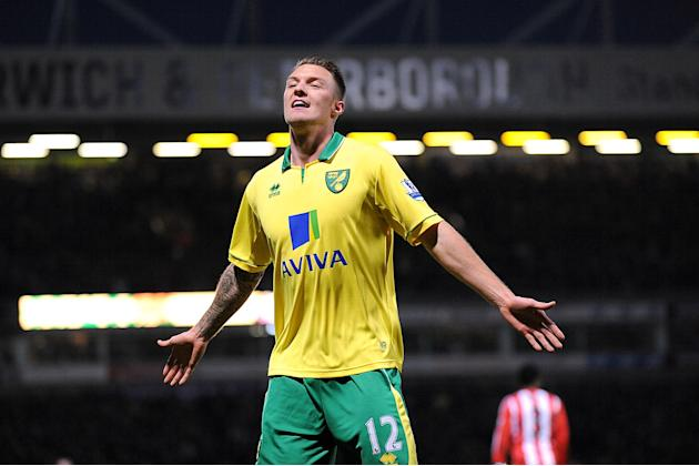 Anthony Pilkington scored Norwich City's second goal of the game against Sunderland