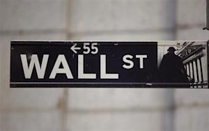 The Wall Street sign is seen near the New York Stock Exchange