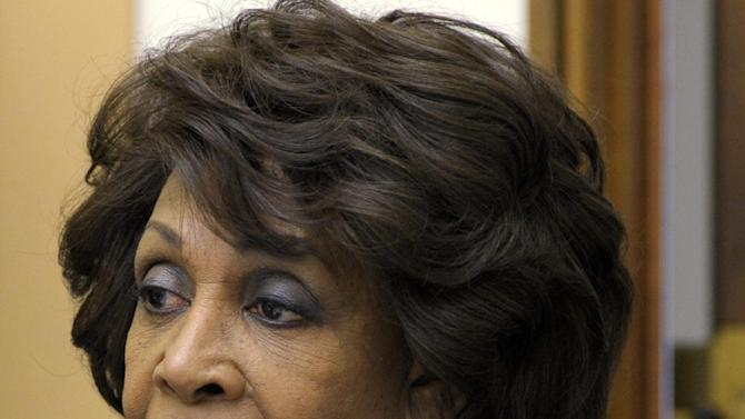 FILE - In this May 8, 2012 file photo, Rep. Maxine Waters, D-Calif. speaks on Capitol Hill in Washington. The substitute ethics panel that investigated Rep. Maxine Waters, a senior Democrat, issued a stinging rebuke of the permanent House Ethics Committee Tuesday with a declaration that its members need to step aside from partisanship when judging member conduct.  (AP Photo/Susan Walsh, File)