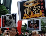 "<p>Pro-China activists rally during an anti-Japan protest in Hong Kong on August 19, 2012. China on Sunday said it had lodged a ""strong protest"" with Japan's embassy in Beijing after Japanese nationalists visited an island at the centre of a long-running territorial dispute.</p>"